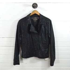 BLANK NYC LAZER CUT FAUX LEATHER JACKET #131-152